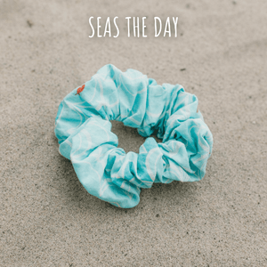 Dog mom scrunchie in Seas the Day print by West Coast Wag Co.