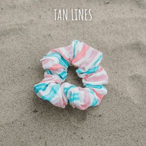 Dog mom scrunchie in Tan Lines print by West Coast Wag Co.