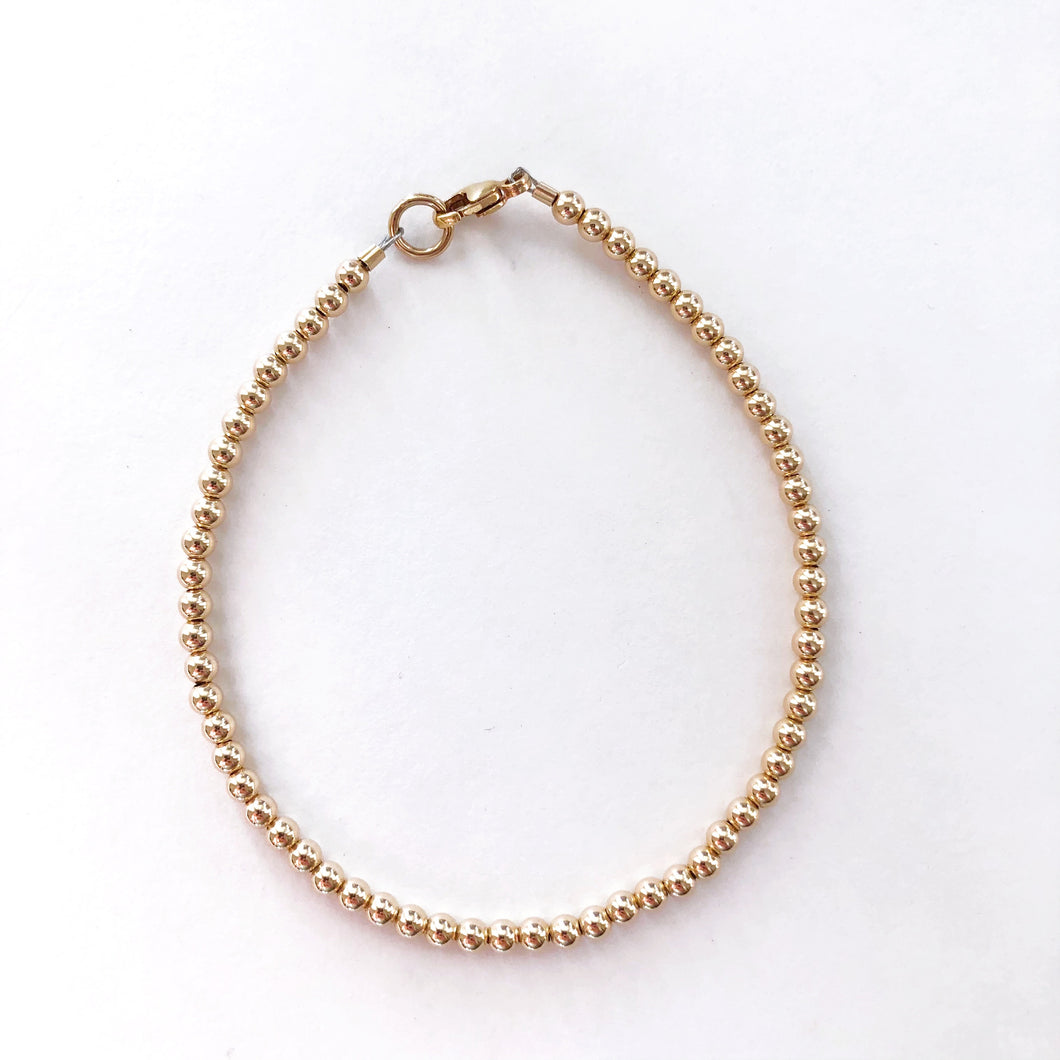 3mm 14k Gold Filled Bracelet