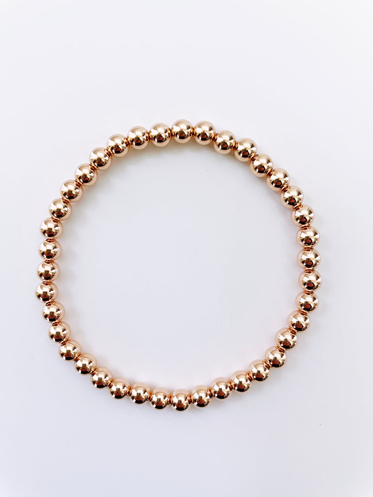 5mm 14k ROSE GOLD Filled Bracelet