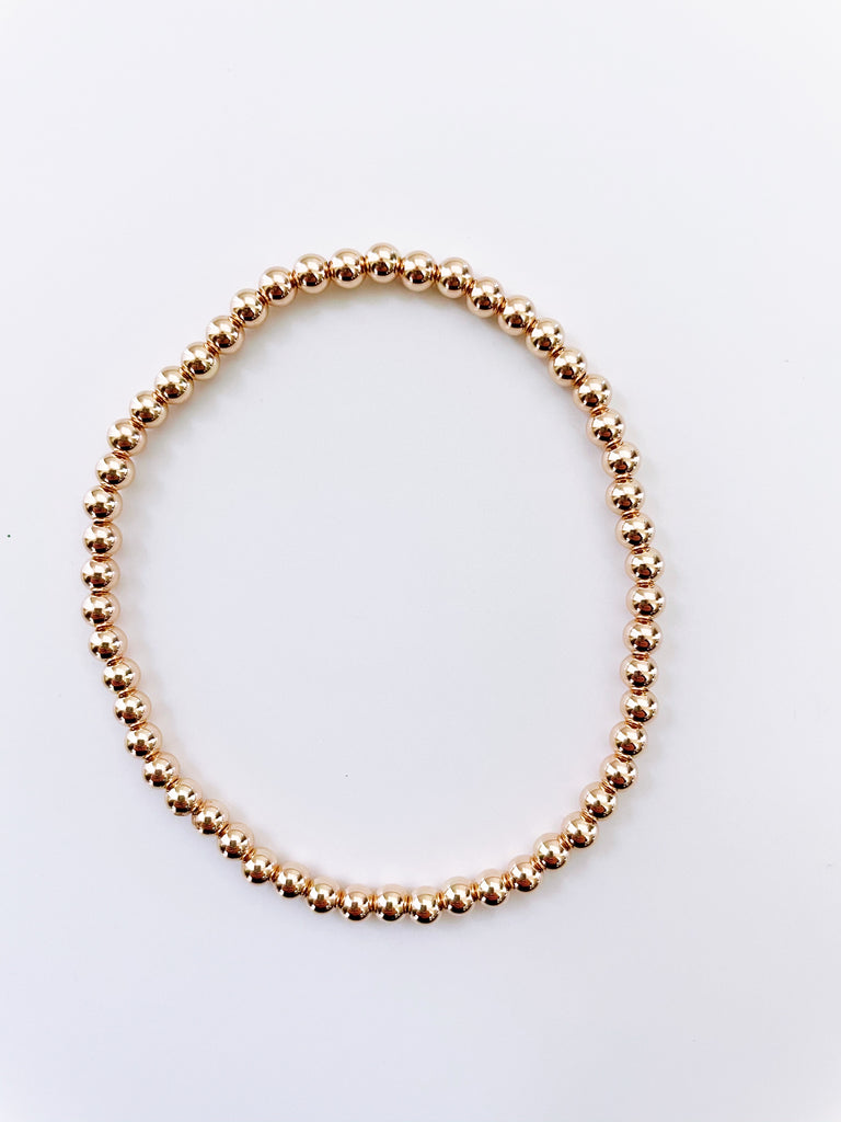 4mm 14k ROSE GOLD Filled Bracelet