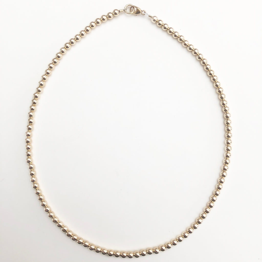 4mm 14k Gold Filled Necklace