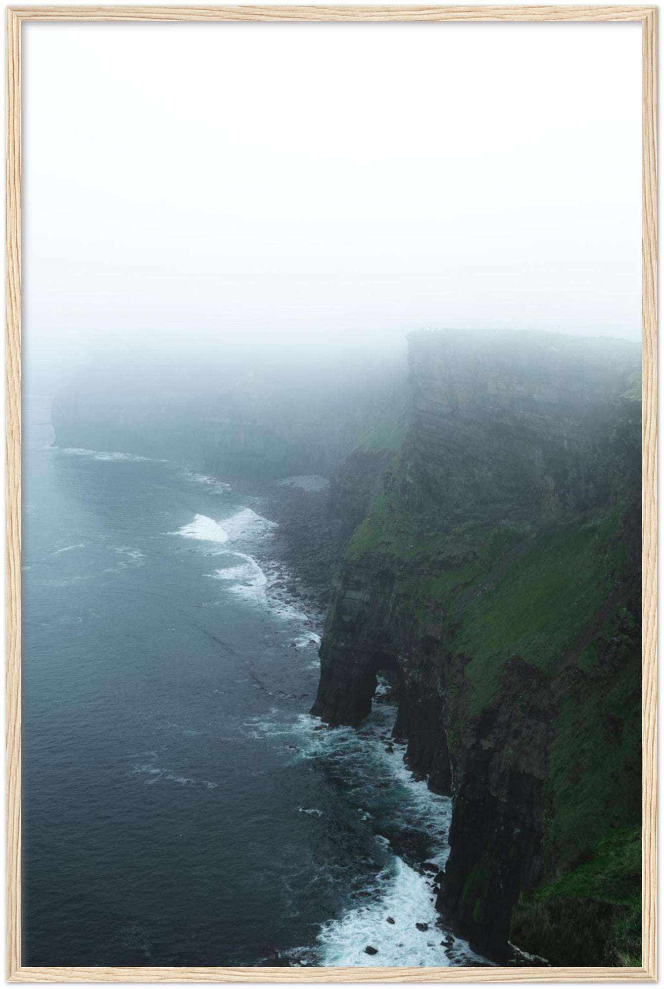 Moody Cliffs of Moher Framed (Portrait) - Jonas Hanspach Photography