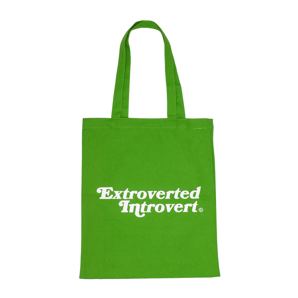 Essential Kiwi Green Shopping Tote - extrovertedintrovert