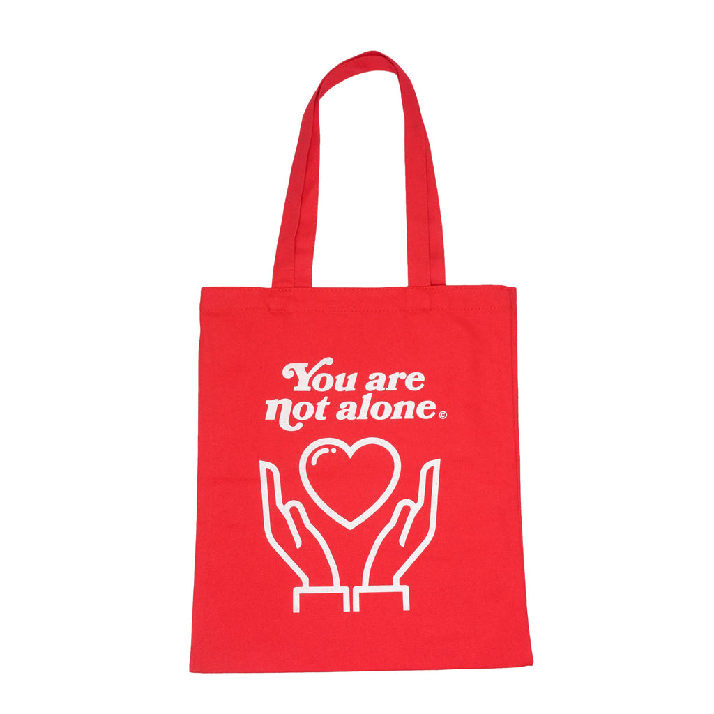 Essential Blush Red Shopping Tote - extrovertedintrovert