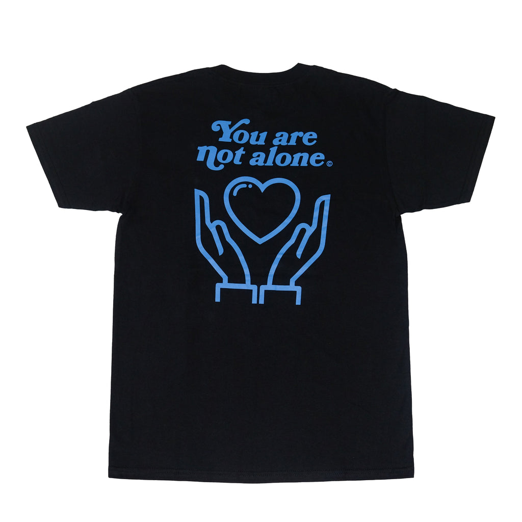 You Are Not Alone Standard Black Tee - extrovertedintrovert