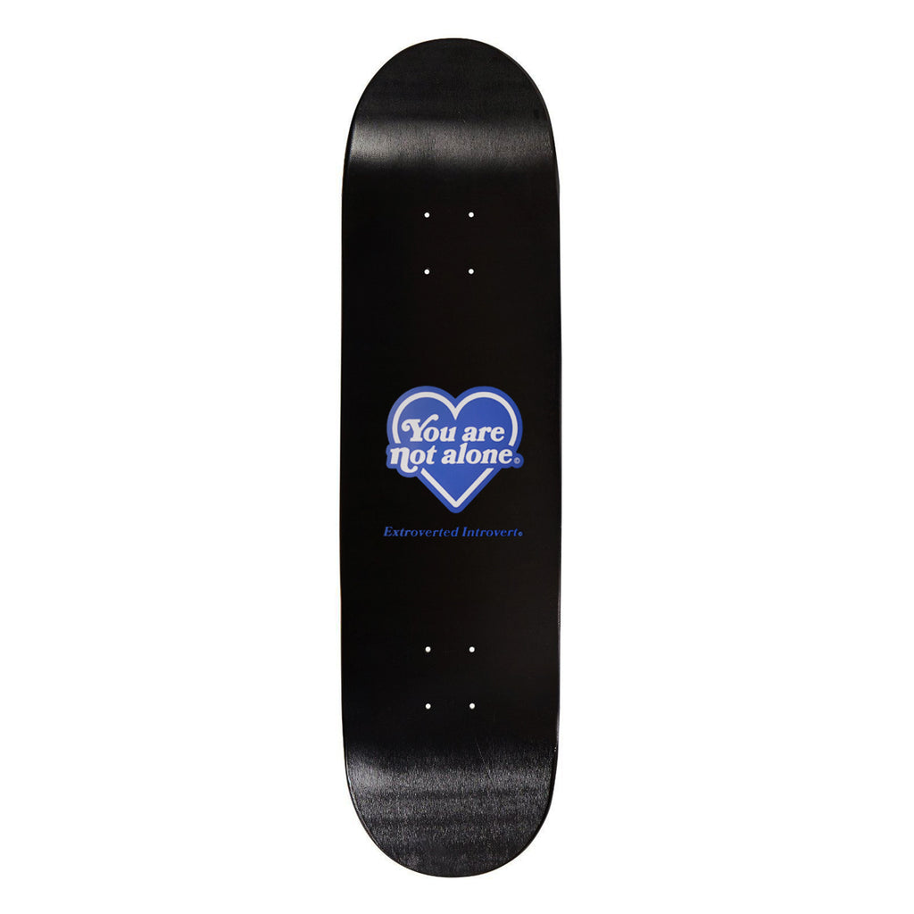Heart Logo 8 Inch Black Skate Deck
