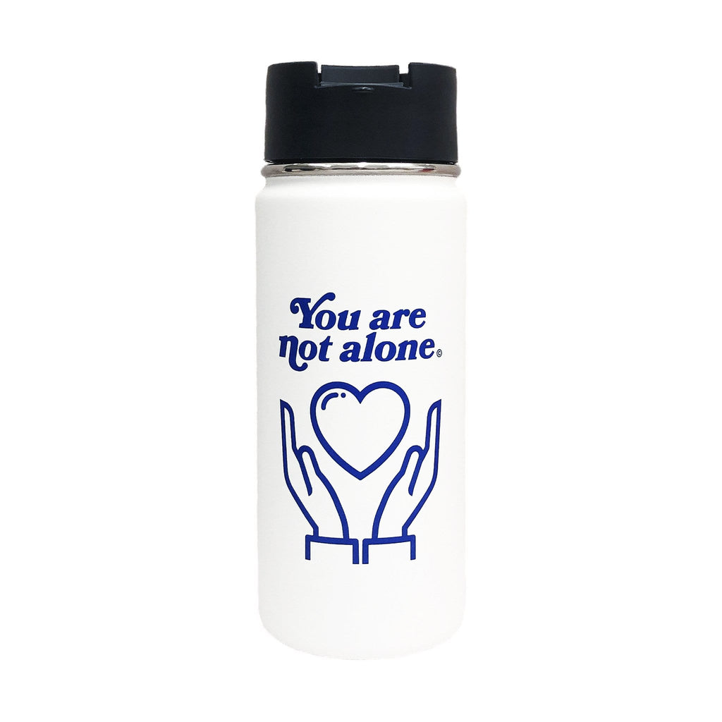 Extroverted Introvert x Hydro Flask - You Are Not Alone 16 oz White Bottle