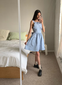 Katie Dress - Blue Moiré