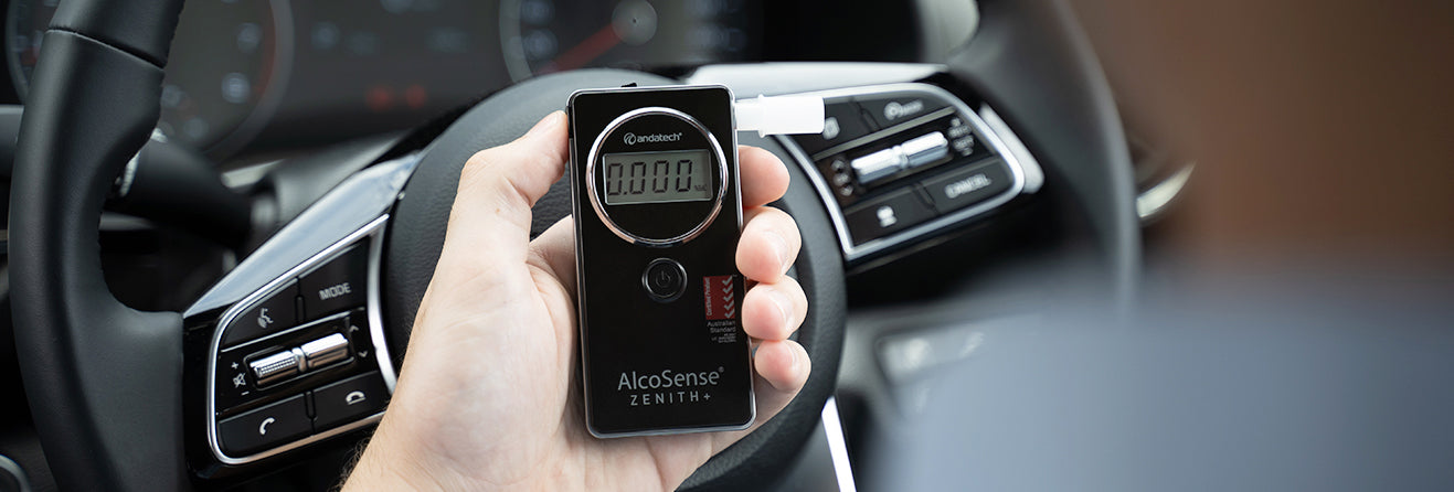 Zenith+ Breathalyzer in Car