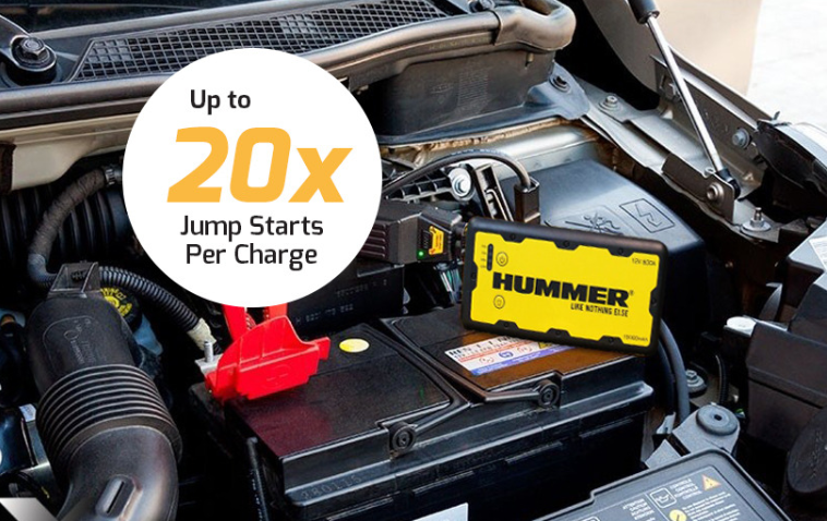 Hummer H1 Powerbank Jumpstarting an Engine