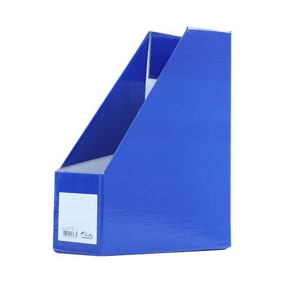 Folded Magazine Holder - Blue