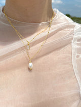 Pearl Necklace Silver