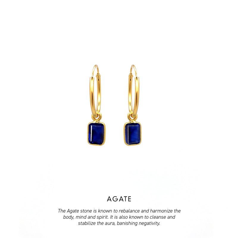 Baguette Hoops Gold <p><b> +7 colours </b></p>