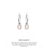 Baguette Hoops Silver <p><b> +5 colours </b></p>