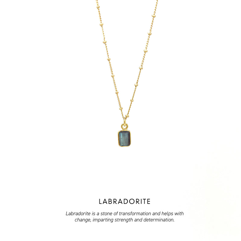 Baguette Necklace Gold <p><b> +7 colours </b></p>