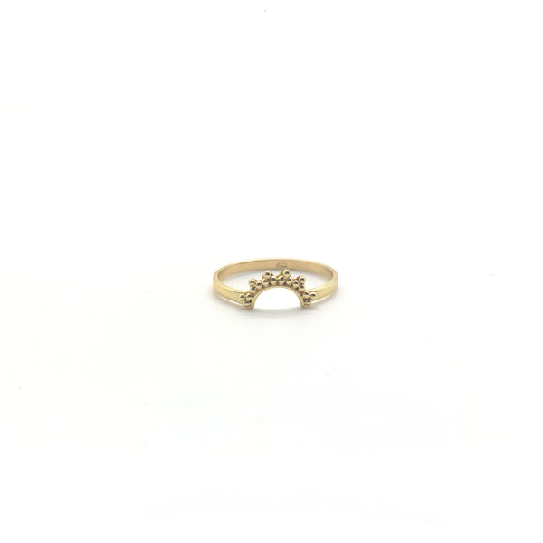 Golden Crescent Moon Ring