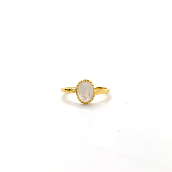 Rainbow Moonstone Royal Ray of Light Gold