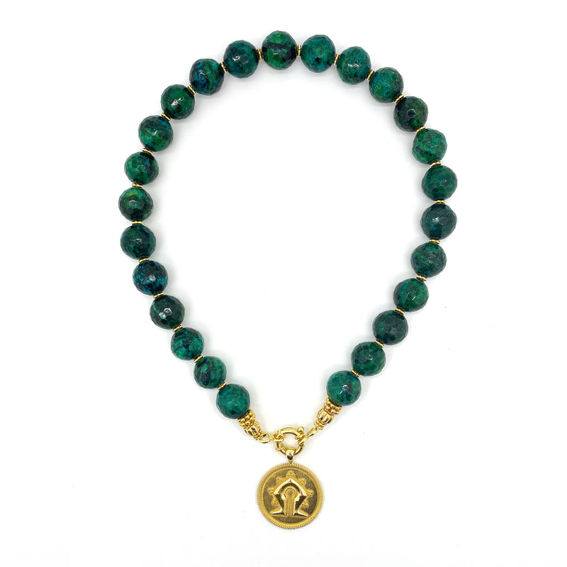 Turquoise Mamuli Necklace <p><b> - LIMITED EDITION - </b></p>