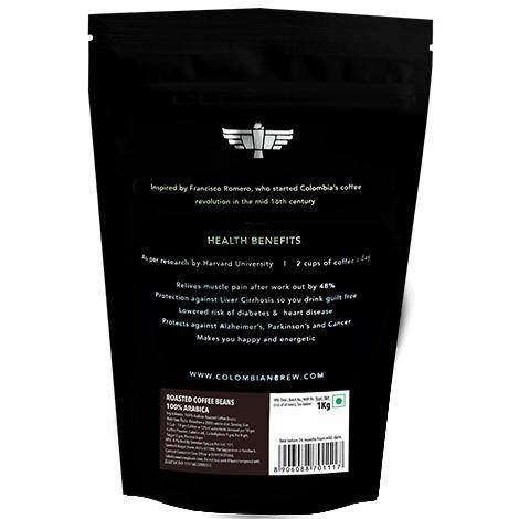 Colombian Brew 100% Arabica Roasted Coffee Beans 1kg - Somethings Brewing Store