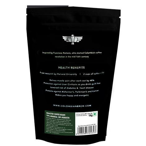 Colombian Brew 70-30 Arabica Robusta Roasted Coffee Beans 1kg - Somethings Brewing Store