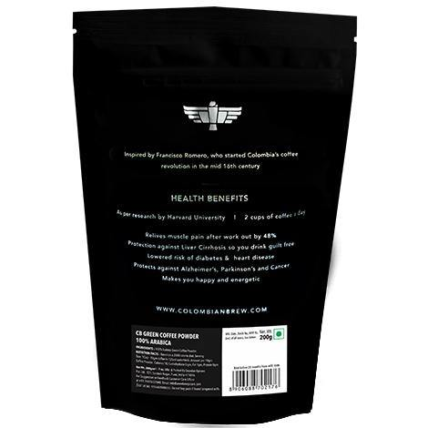 Colombian Brew 100% Arabica Green Coffee Beans Powder 200g - Somethings Brewing Store