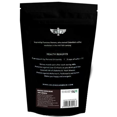 Colombian Brew 100% Arabica Roasted Coffee Beans 150g - Somethings Brewing Store