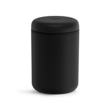 Fellow Atmos Vacuum Canister is a black-colored storage cannister made of stainless steal with a capacity of 1200ml.