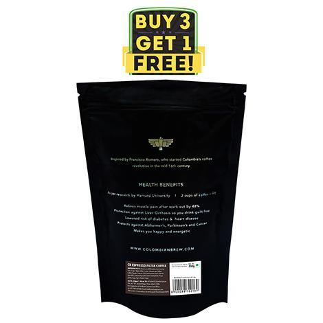 Colombian Brew Arabica Espresso Filter Coffee, Roast & Ground Strong, 250g Buy 3 Get 1 Free - Somethings Brewing Store