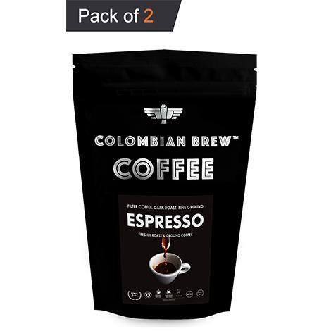 Colombian Brew Arabica Espresso Filter Coffee, Roast & Ground Strong, 100g Pack of 2 - Somethings Brewing Store