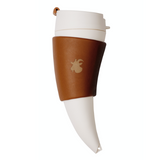 Goat Story Mug is a horn-shaped brown color coffee mug with a capacity of 470ml.