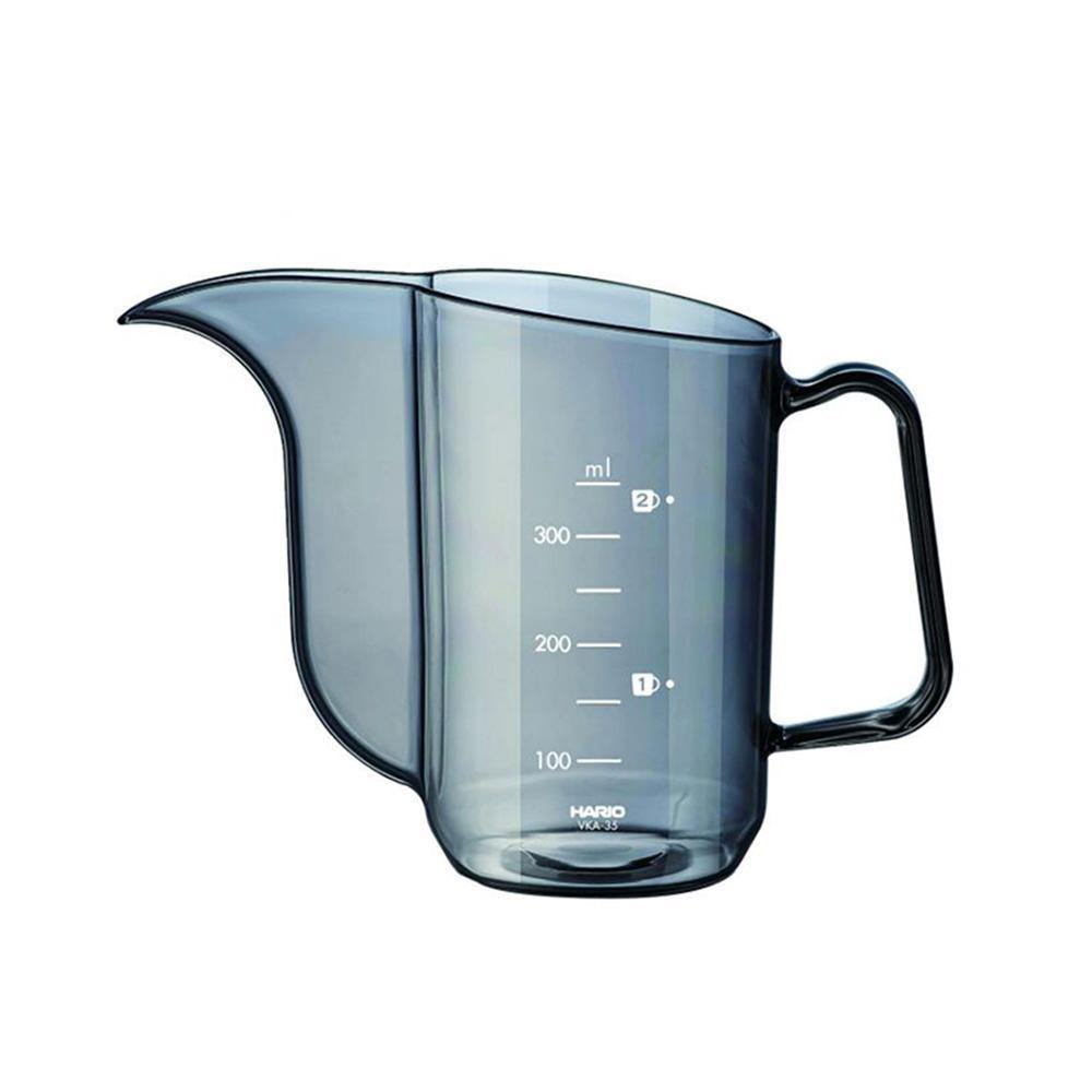 Hario V60 Drip Kettle Air is a transparent black-colored kettle made of PCT resin with a capacity of 350 ml.