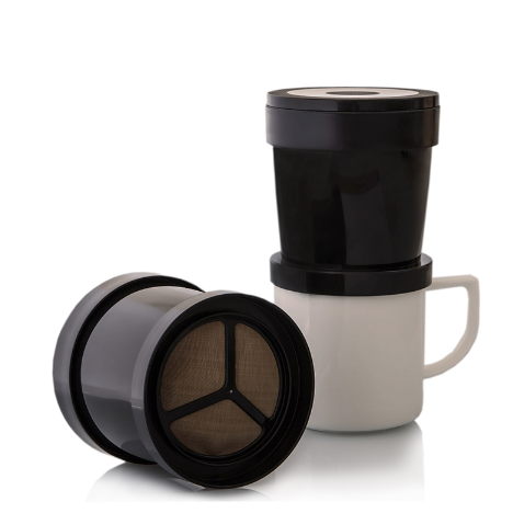 Finum Drip Coffee Sprinter Filter is made of micro-fine stainless-steel mesh for the best coffee experience.