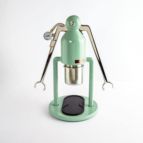 Cafelat Robot Lever Espresso Machine  comes with a stainless steel body and lever arms along with 58 mm filter baskets.