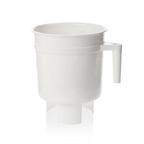 Toddy Cold Brew System is white colored brewing container with handle.