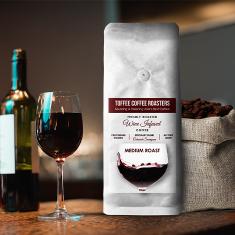Toffee Coffee - Cabernet Sauvignon - Wine Barrel Aged Coffee - 1900 MT - Somethings Brewing Store