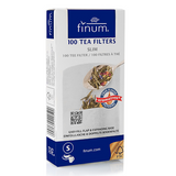 Finum Tea Filters are disposable paper filters dipped inside a transparent tea glass.