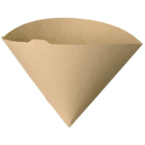 Hario Filters Unbleached are wood colored conical shaped filters comes with 100 units in a pack.