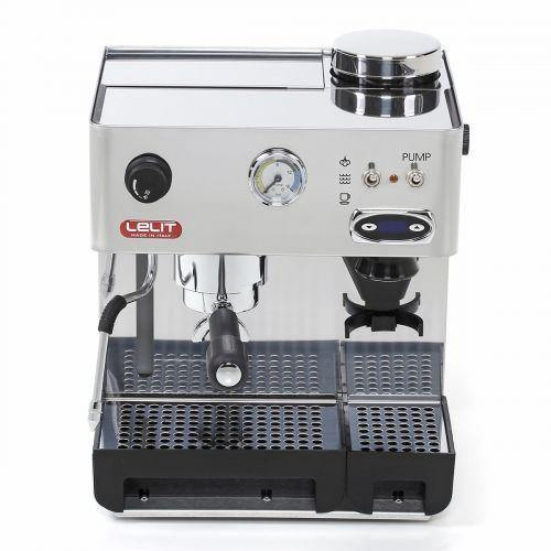 Lelit Anita with PID Boiler, Coffee Machine with inbuilt Grinder, Silver, 220V , PL042TEMD