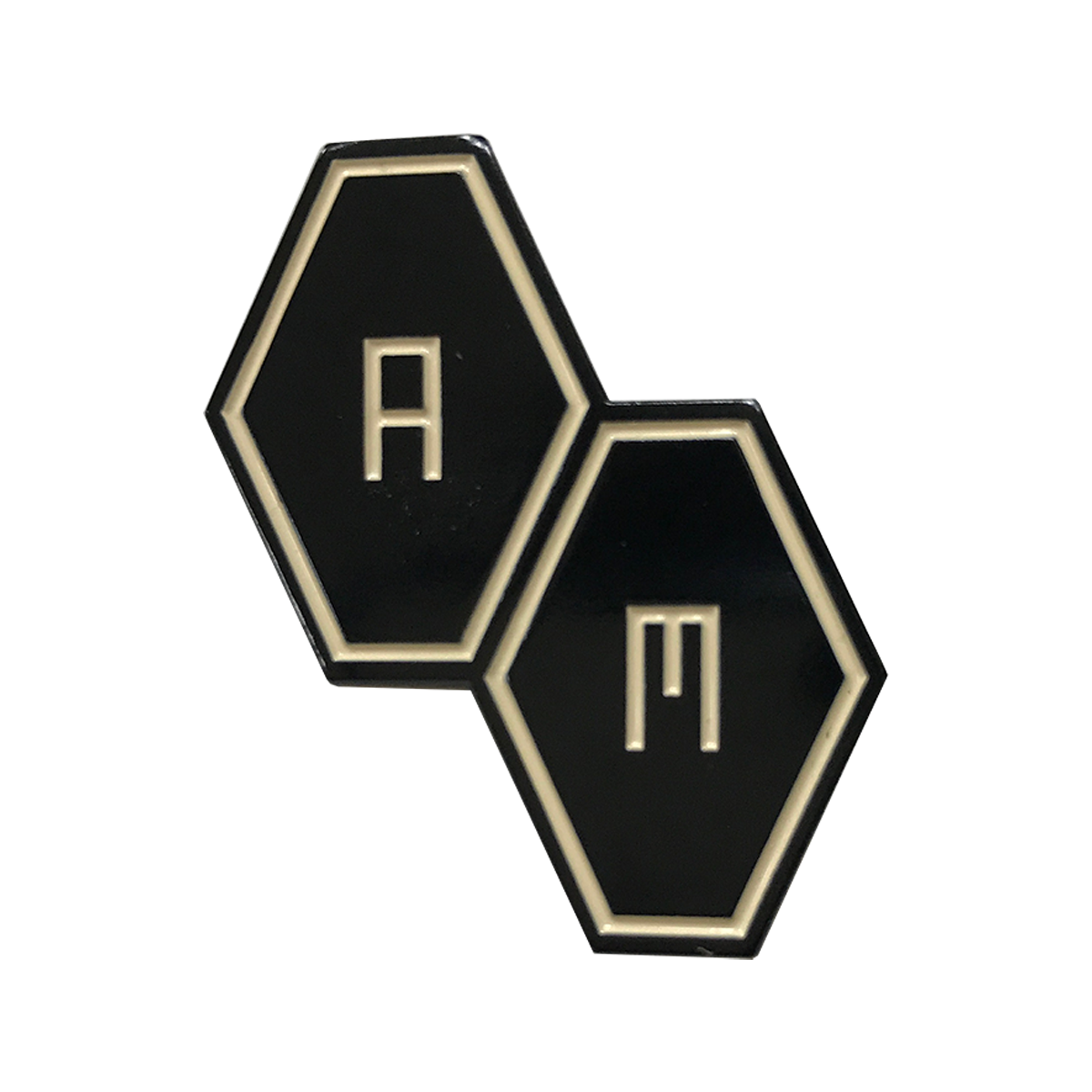 'AM HEXAGON' PIN BADGE