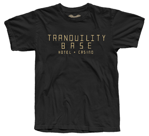 'TRANQUILITY BASE HOTEL + CASINO' T-SHIRT (BLACK) *STORE EXCLUSIVE*