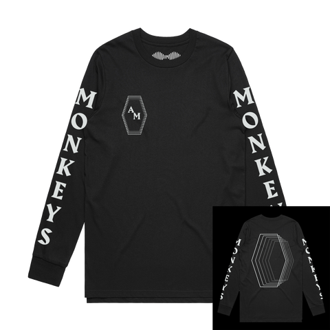 MONKEYS INFINITY HEXAGON LONG SLEEVE T-SHIRT