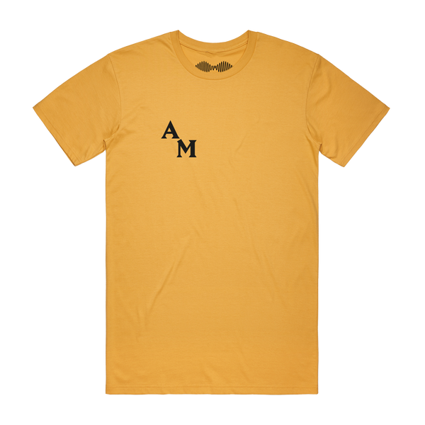 TAKE IT EASY FOR A LITTLE WHILE MUSTARD T-SHIRT