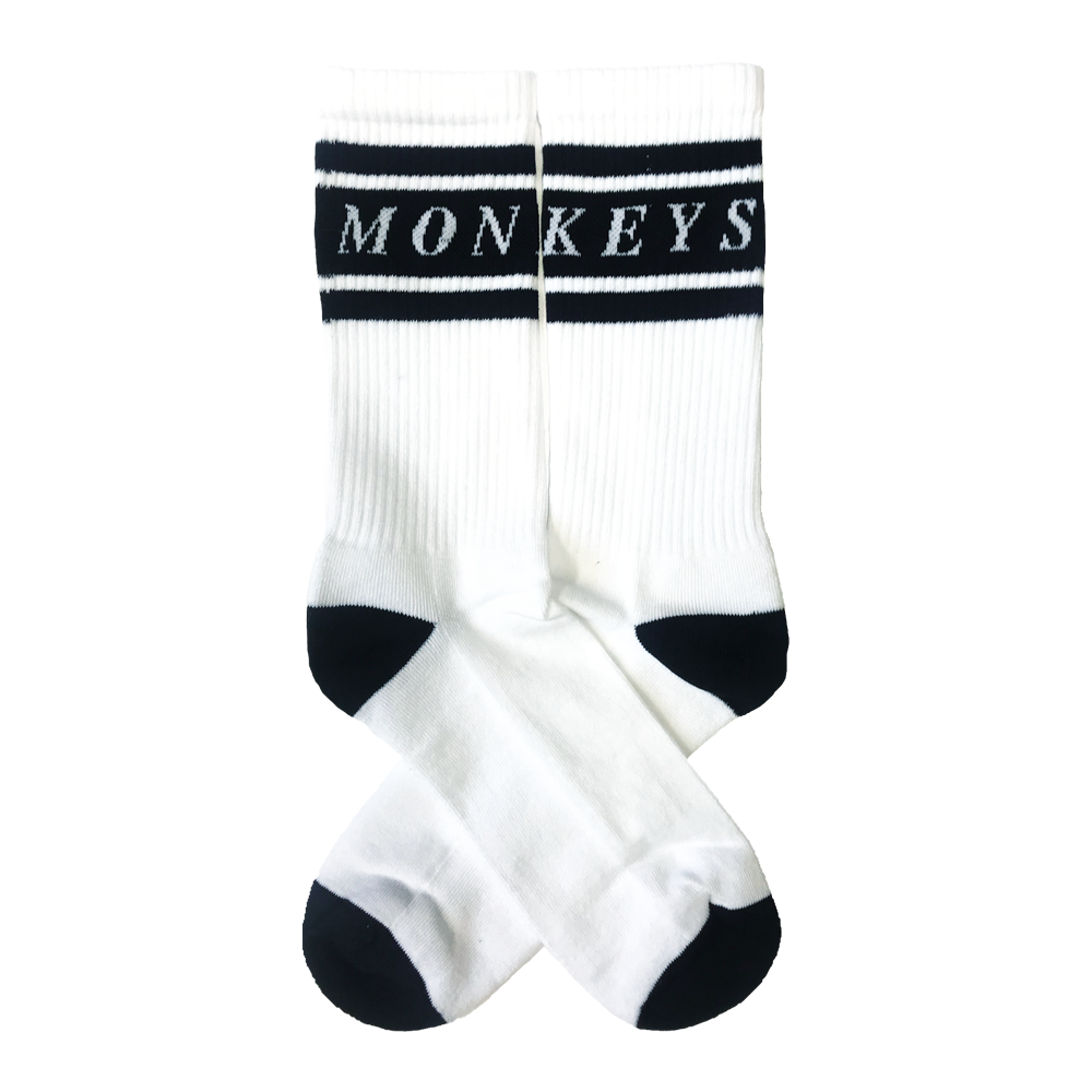 MONKEYS WHITE SPORTS SOCKS