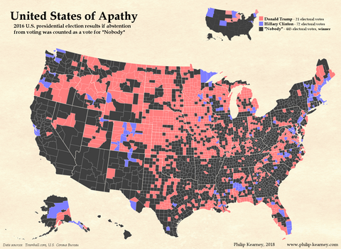 Election map of the united states