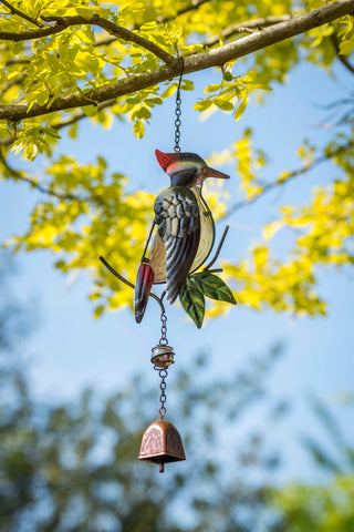 Greater Spotted Woodpecker Garden Bell