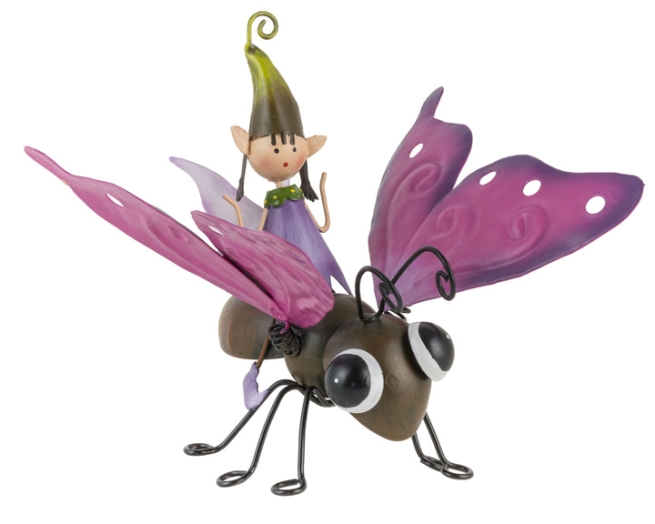 Pippa the Garden Pixie flying a Butterfly