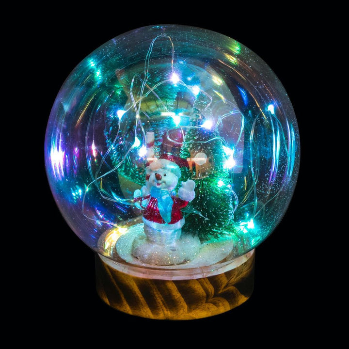 Magical Decs Snowman Snow Globe