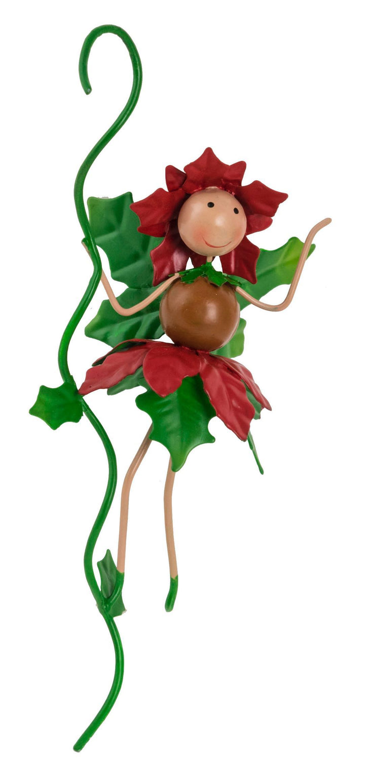 Pandora the Poinsettia Christmas Fairy Pot Hanger