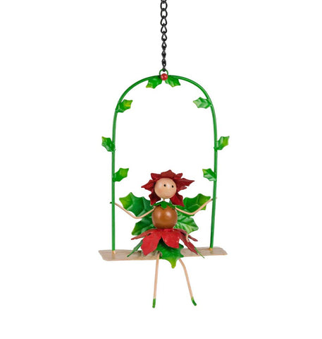 Pandora The Poinsettia Christmas Fairy Swing
